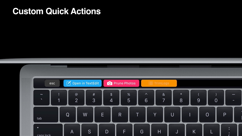 macOS 10.14 MojaveのTouch Bar Automator