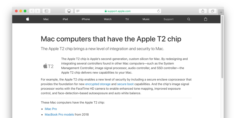Apple T2チップについて