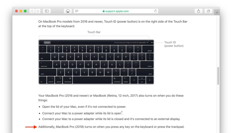 MacBook Pro 2018の電源起動