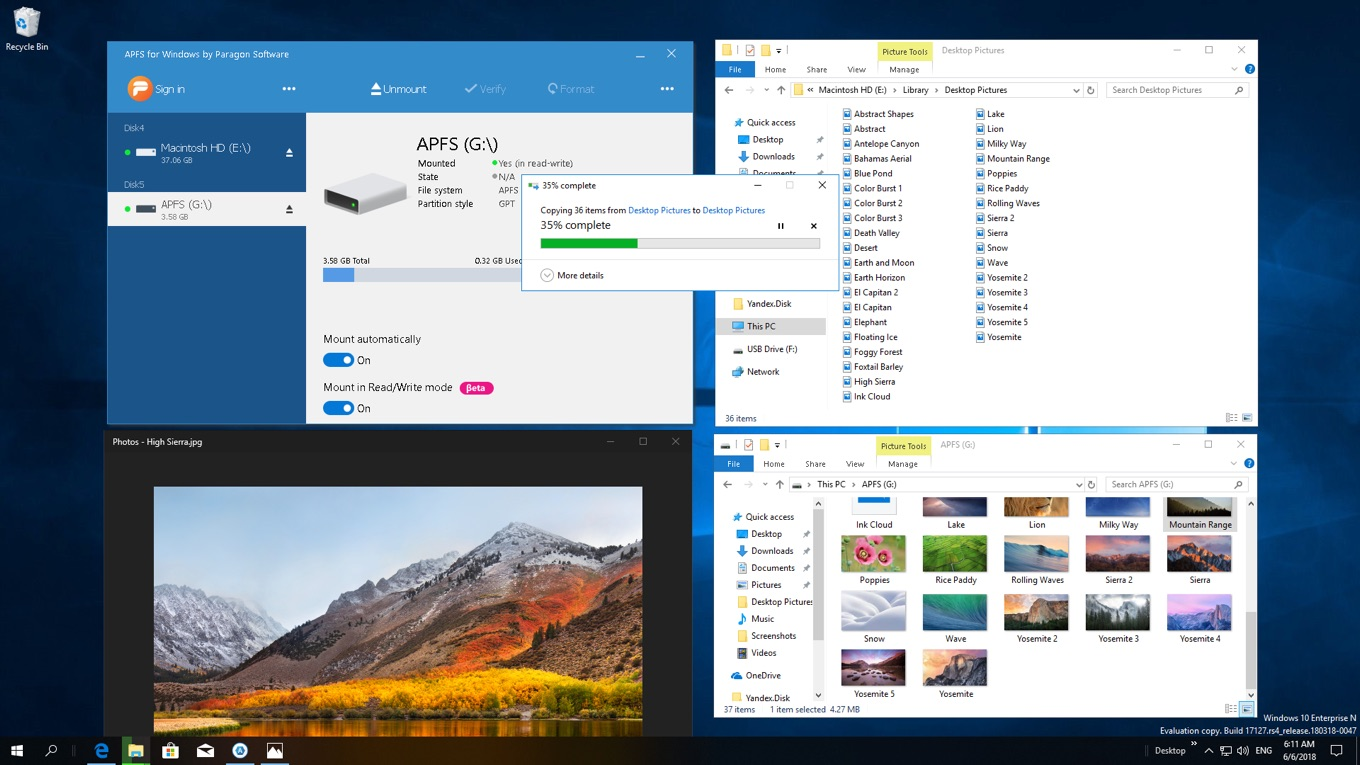 APFS for Windows by Paragon Software Preview Edition