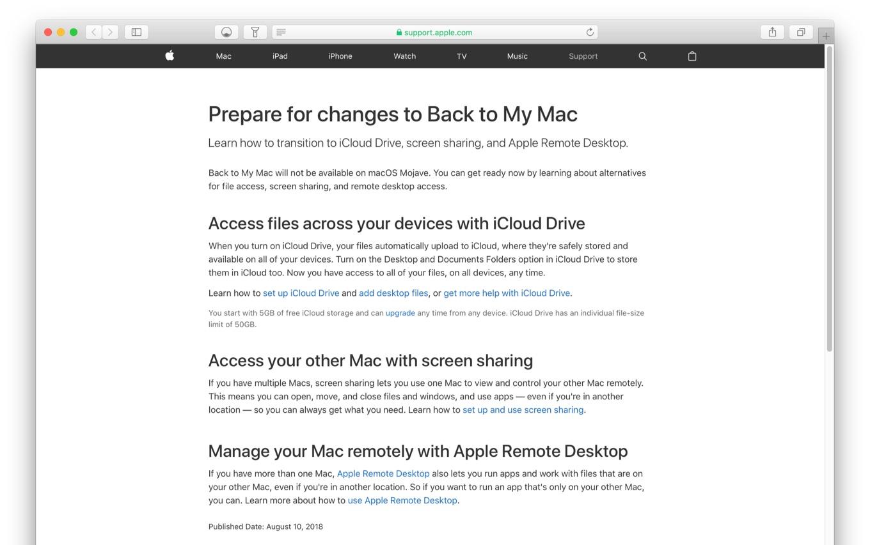 Apple、macOS 10 14 MojaveでリモートのMacにアクセスすることが