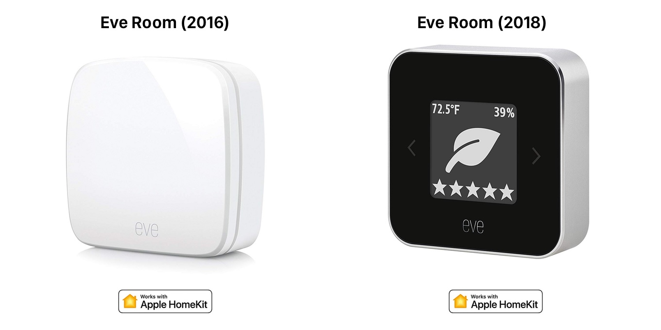 Elgato Eve Room 2016 and 2018