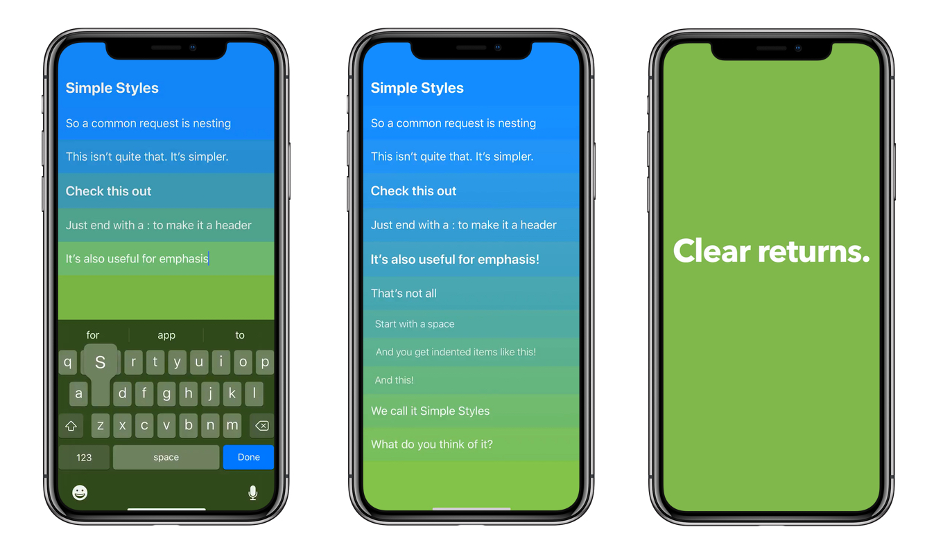 Clear v2 for iOSのSimple Styles