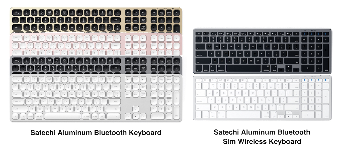 Satechi Aluminum Bluetooth Keyboardのカラー