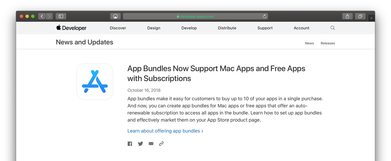 App Bundles Now Support Mac Apps and Free Apps with Subscriptions - Apple