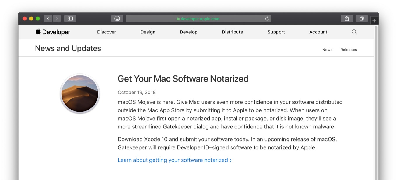 Get Your Mac Software Notarized