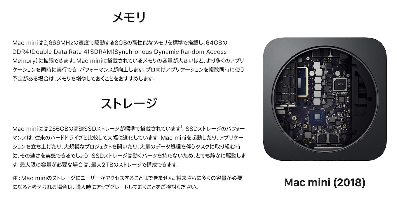 Mac miniのストレージにユーザーがアクセスすることはできません。