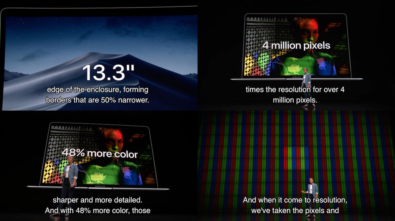 MacBook Air 2018のディスプレイ