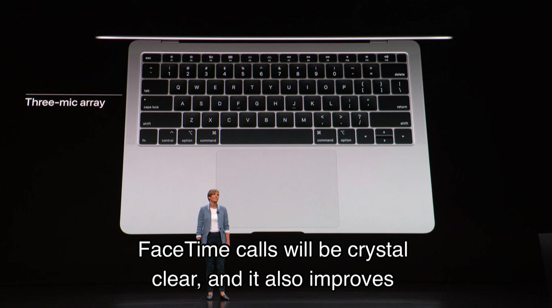 MacBook Air 2018のマイク