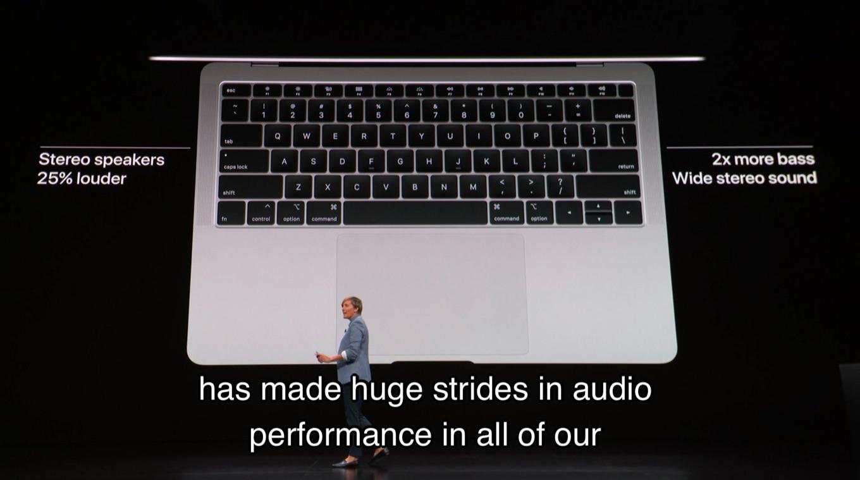 MacBook Air 2018のオーディオ