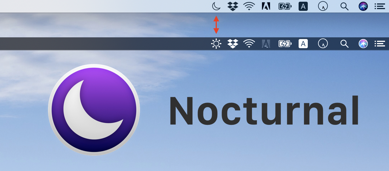 HarshilShah/Nocturnal: A simple macOS app to toggle dark mode with one click