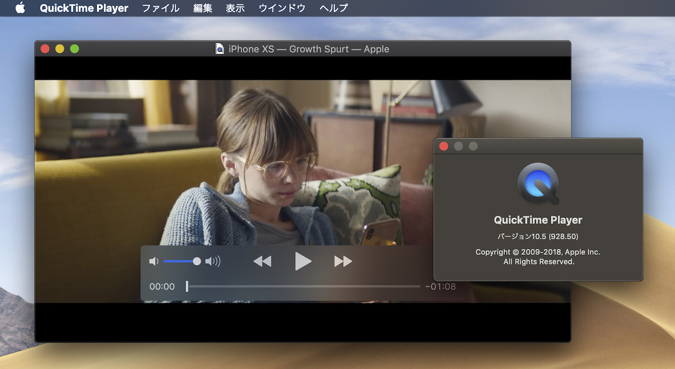 AppleのQuickTime Player 10