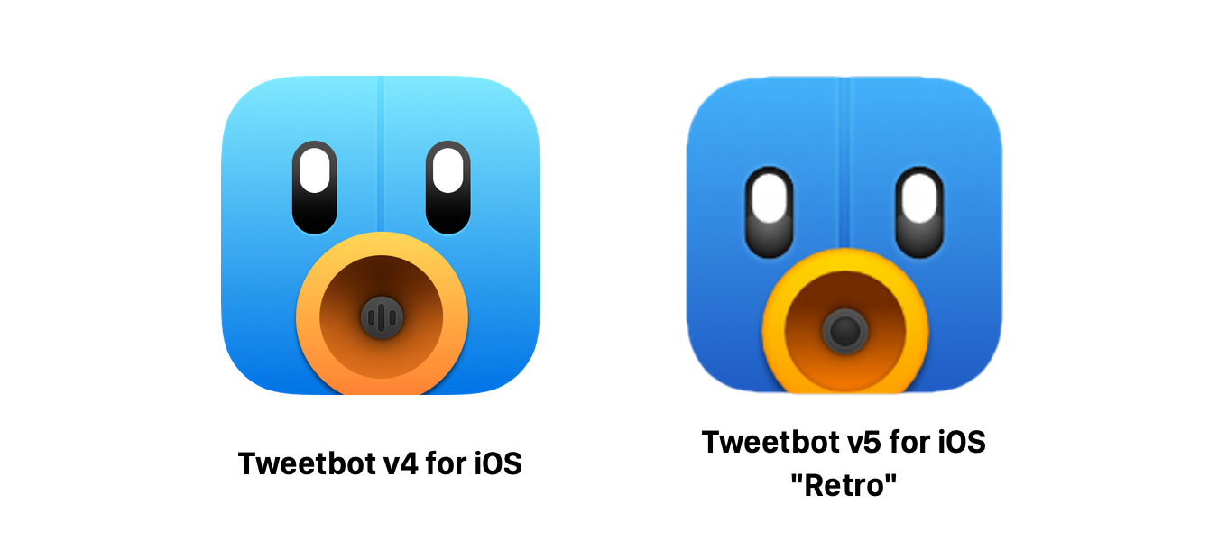 Tweetbot v5 for iOSのRetroアイコン
