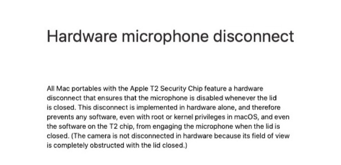 Apple T2 Security Chipでマイクを管理