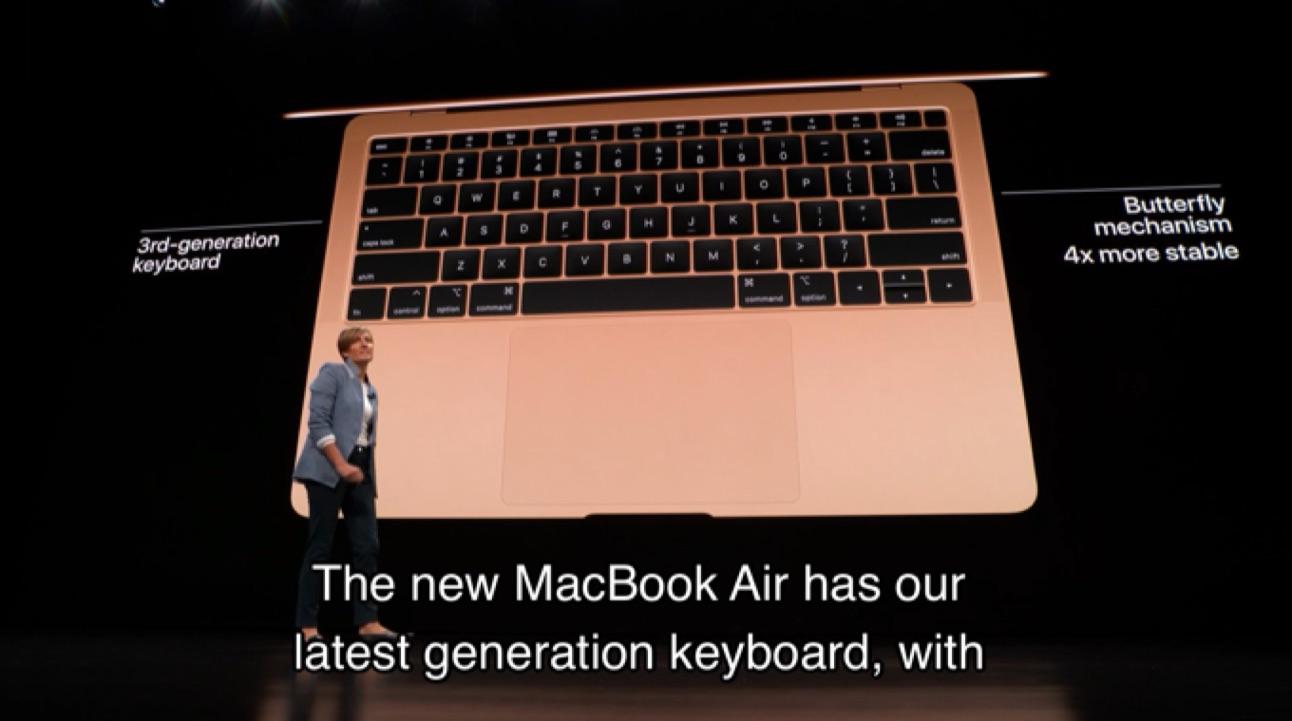 MacBook Air (Retina, 13-インチ, 2018)のキーボード