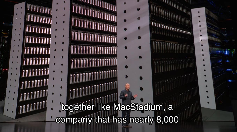 MacStadiumがホスティングしている8,000台のMac mini