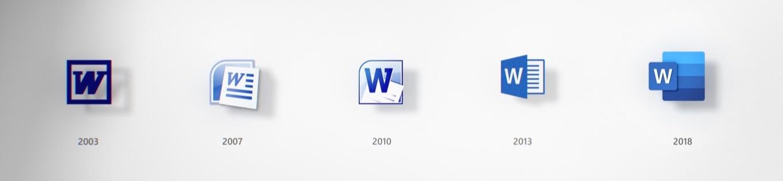 Microsoft Wordのアイコン遷移