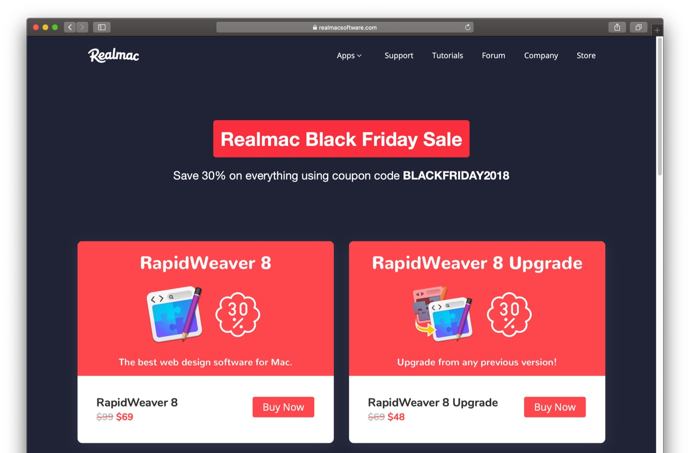 Realmac Black Friday Sale