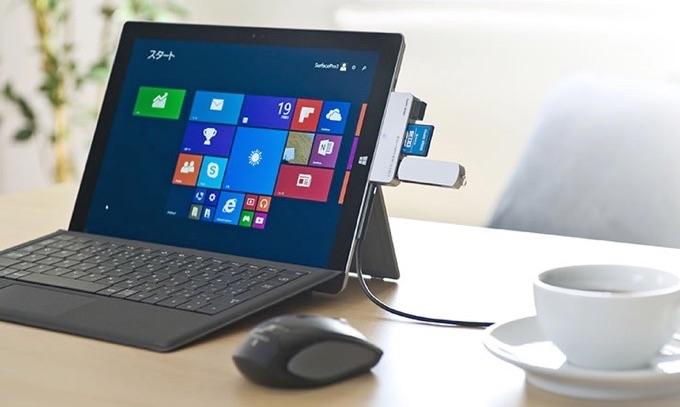 Surface専用USB3.0カードリーダー