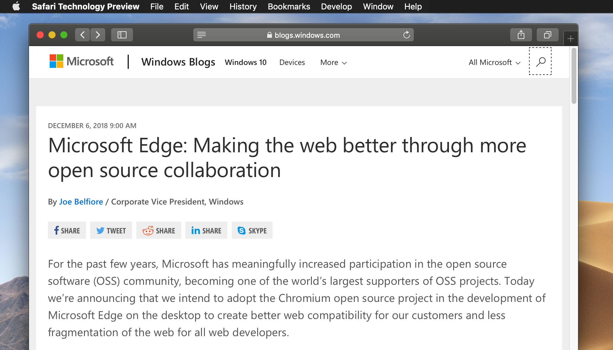 Hello-Chromium-based-Microsoft-Edge