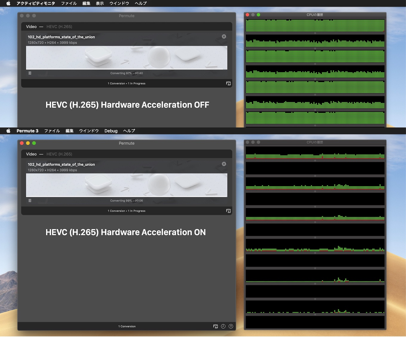 Permute HEVC (H.265) Hardware Acceleration