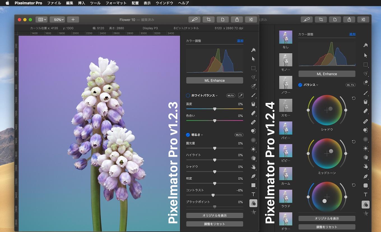 Pixelmator Pro v1.2.4のカラーホイール