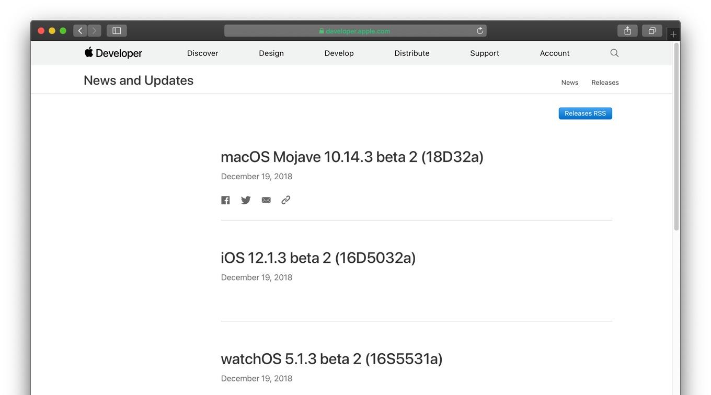 macOS Mojave 10.14.3 beta 2 (18D32a)