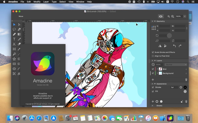 Amadine for Macとサンプル