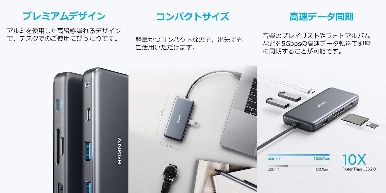 プレミアム USB-Cハブ