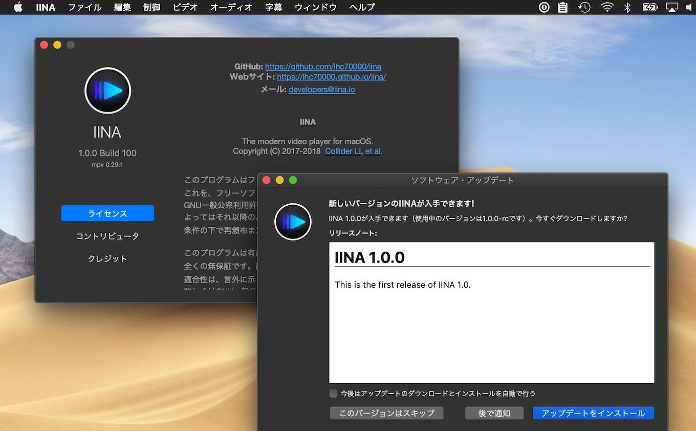 Mac専用動画プレイヤーIINA