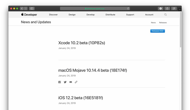 macOS Mojave 10.14.4 beta
