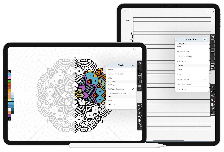 Linea Sketch v2.6の新しいテンプレート