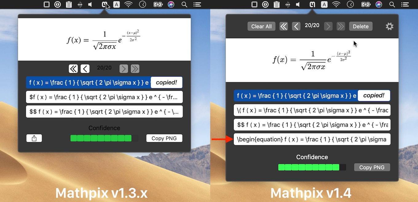 Mathpix Snipping Tool for Mac v1.4