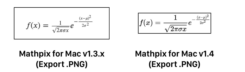 Mathpix for mac Export PNG