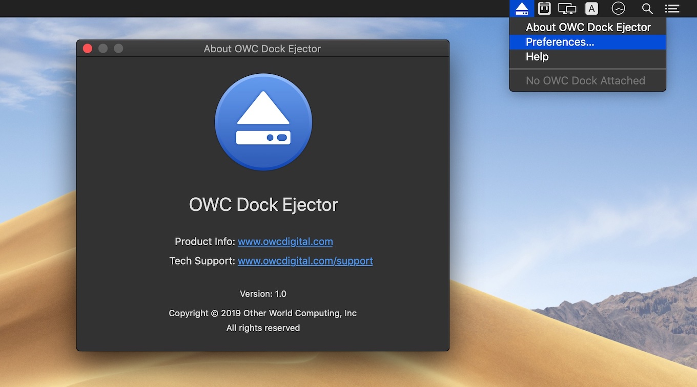 OWC Dock Ejector