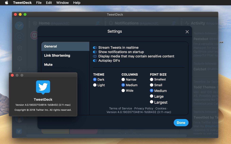 TweetDeck for Mac v3.11