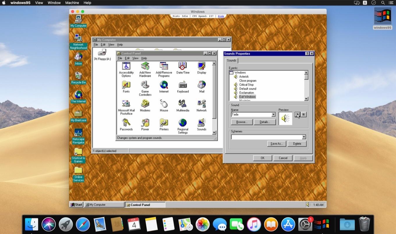 クロスプラットフォームに対応しElectron内で動く「Windows 95