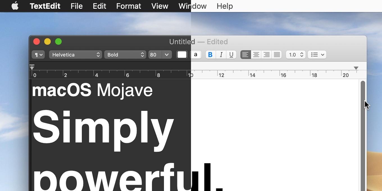 Mojave 10.14.2のテキストエディタ