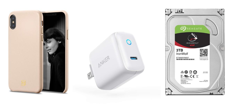 AmazonのタイムセールでAnkerの1ポートUSB-C PD急速充電器「Anker PowerPort C1」やSpigenのスマートフォンケースなどが特別価格で販売中
