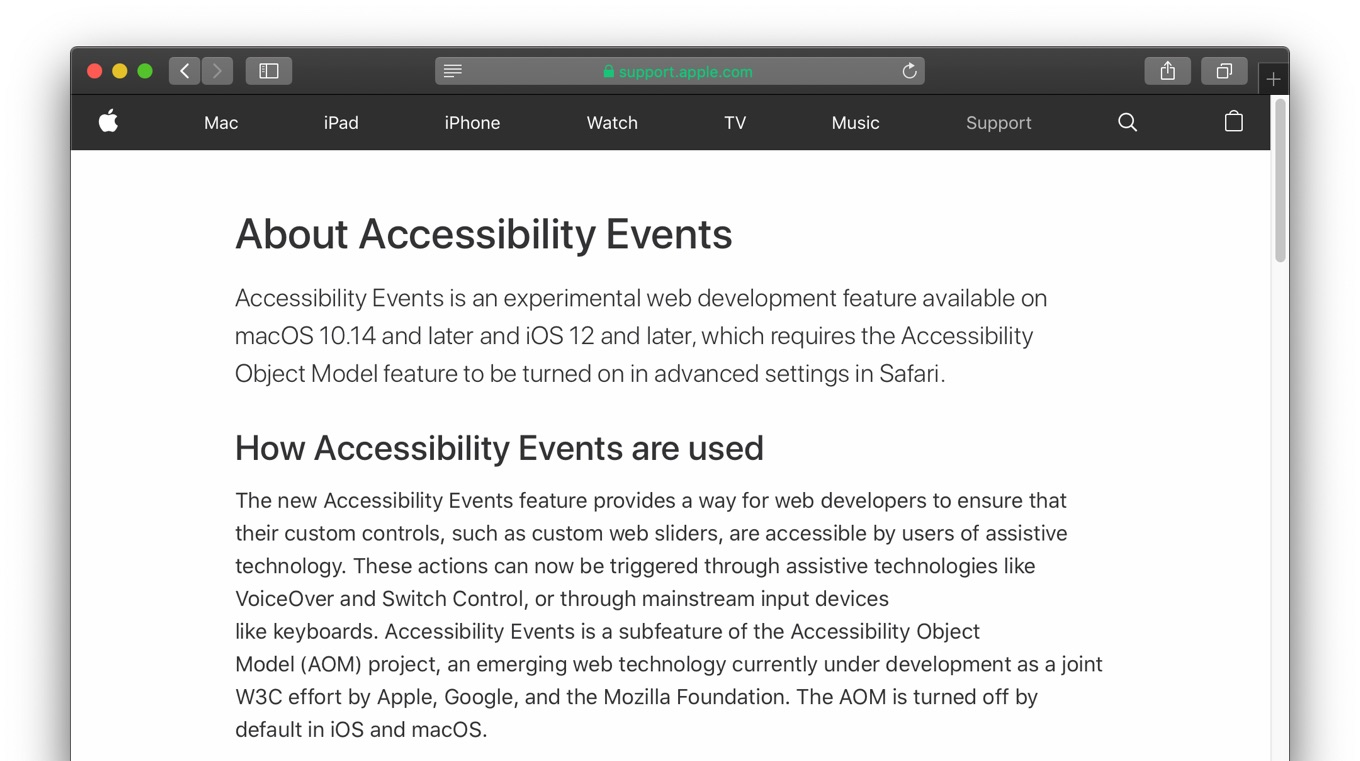 Accessibility Object Model