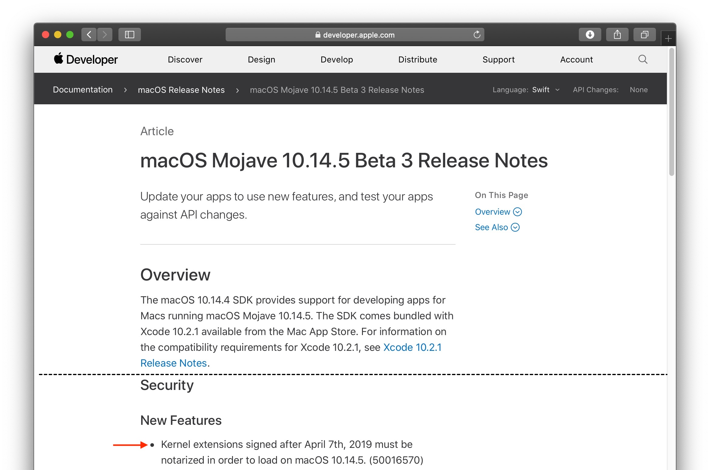 macOS Mojave 10.14.5 Beta Release Notes