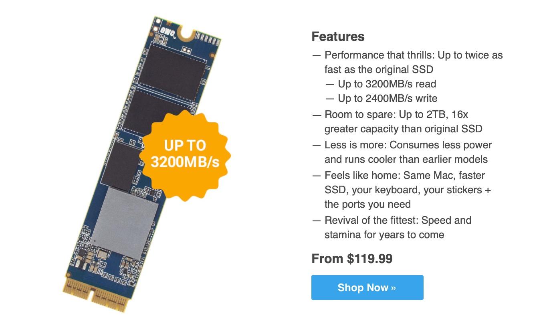 Aura Pro X2 SSDのスペック