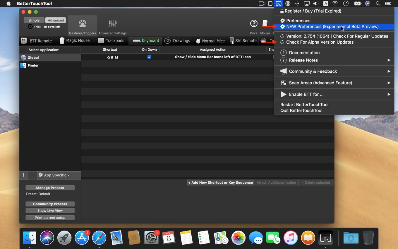 BetterTouchTool New UI Preview Alpha Channel