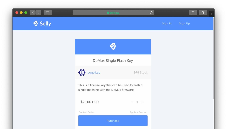 DeMux Single Flash Key