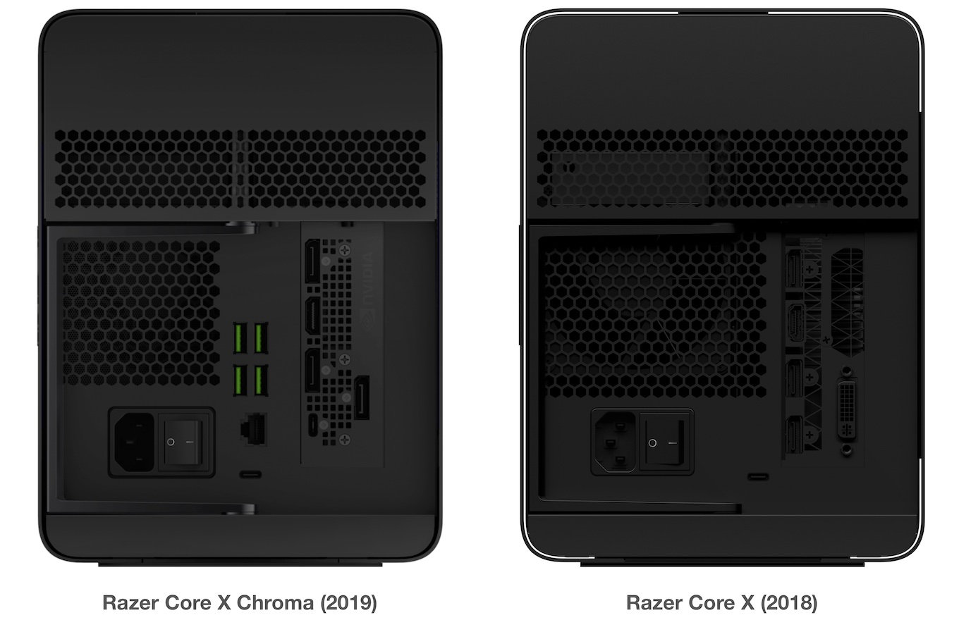 Razer Core X 2018 and Chroma 2019
