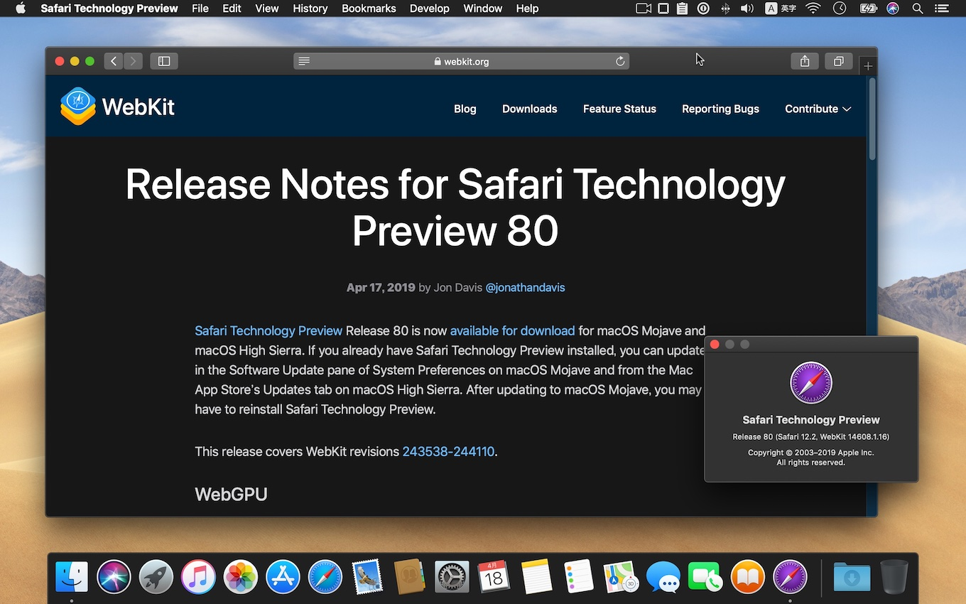 Release Notes for Safari Technology Preview 80