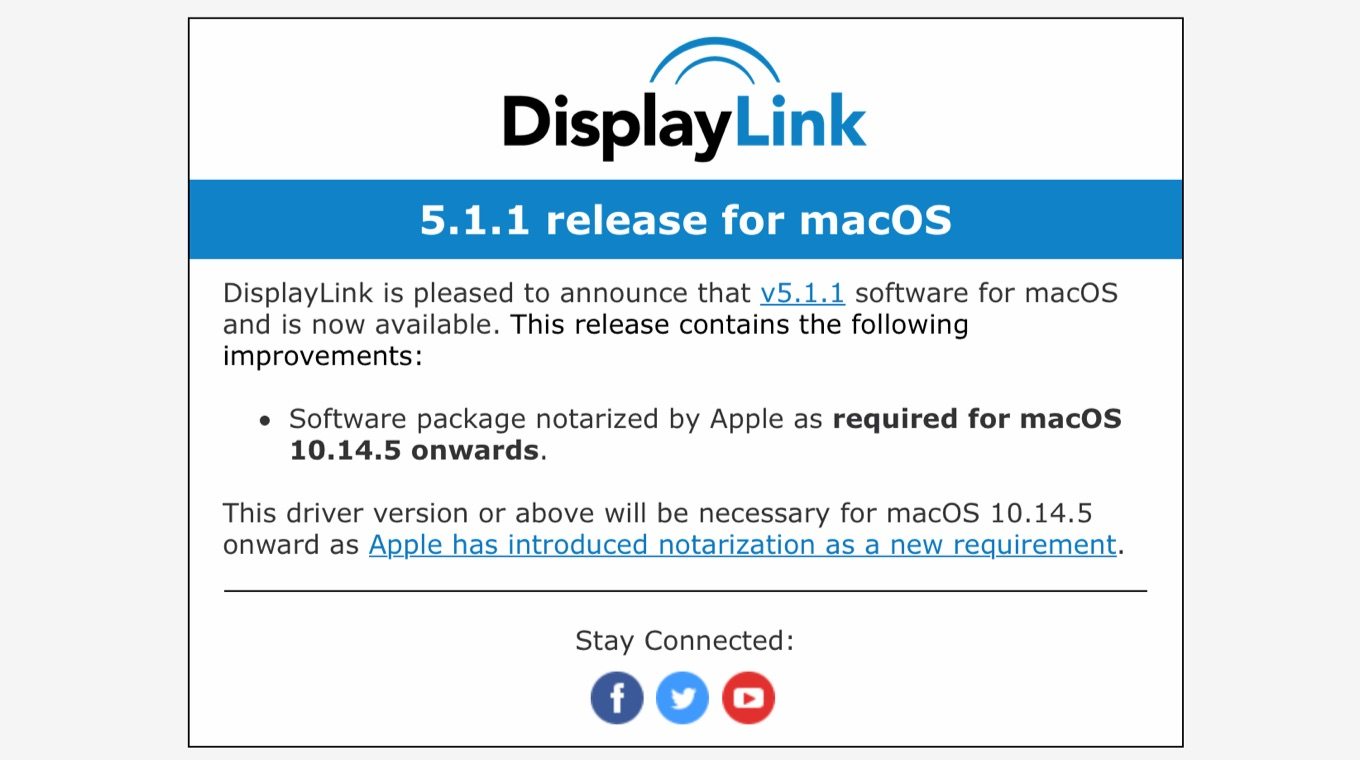 Software package notarized by Apple as required for macOS 10.14.5 onwards.