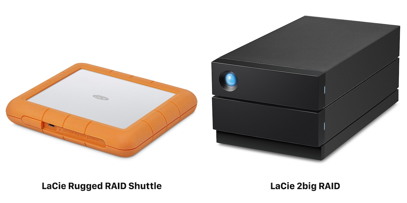 LaCie Rugged RAID Shuttle and 2big RAID