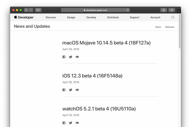 macOS Mojave 10.14.5 beta 4 (18F127a)
