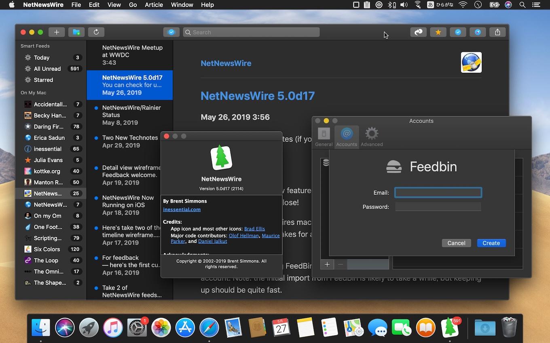Mac用RSSリーダー「NetNewsWire」